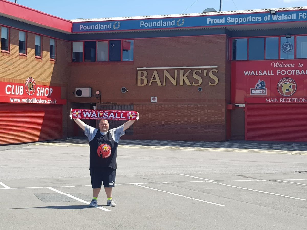 Maurice outside the Banks's Stadium
