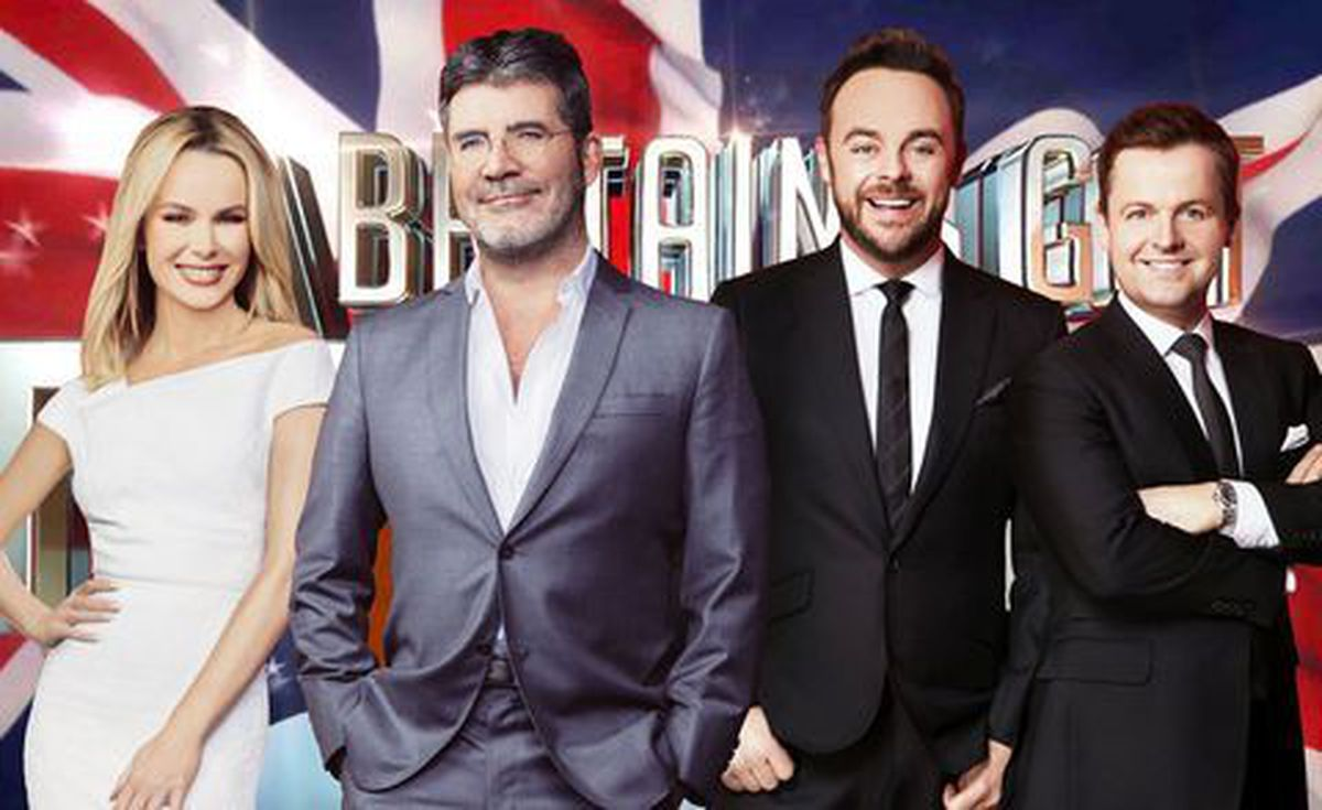 Ant & Dec with BGT judges Amanda Holden and Simon Cowell