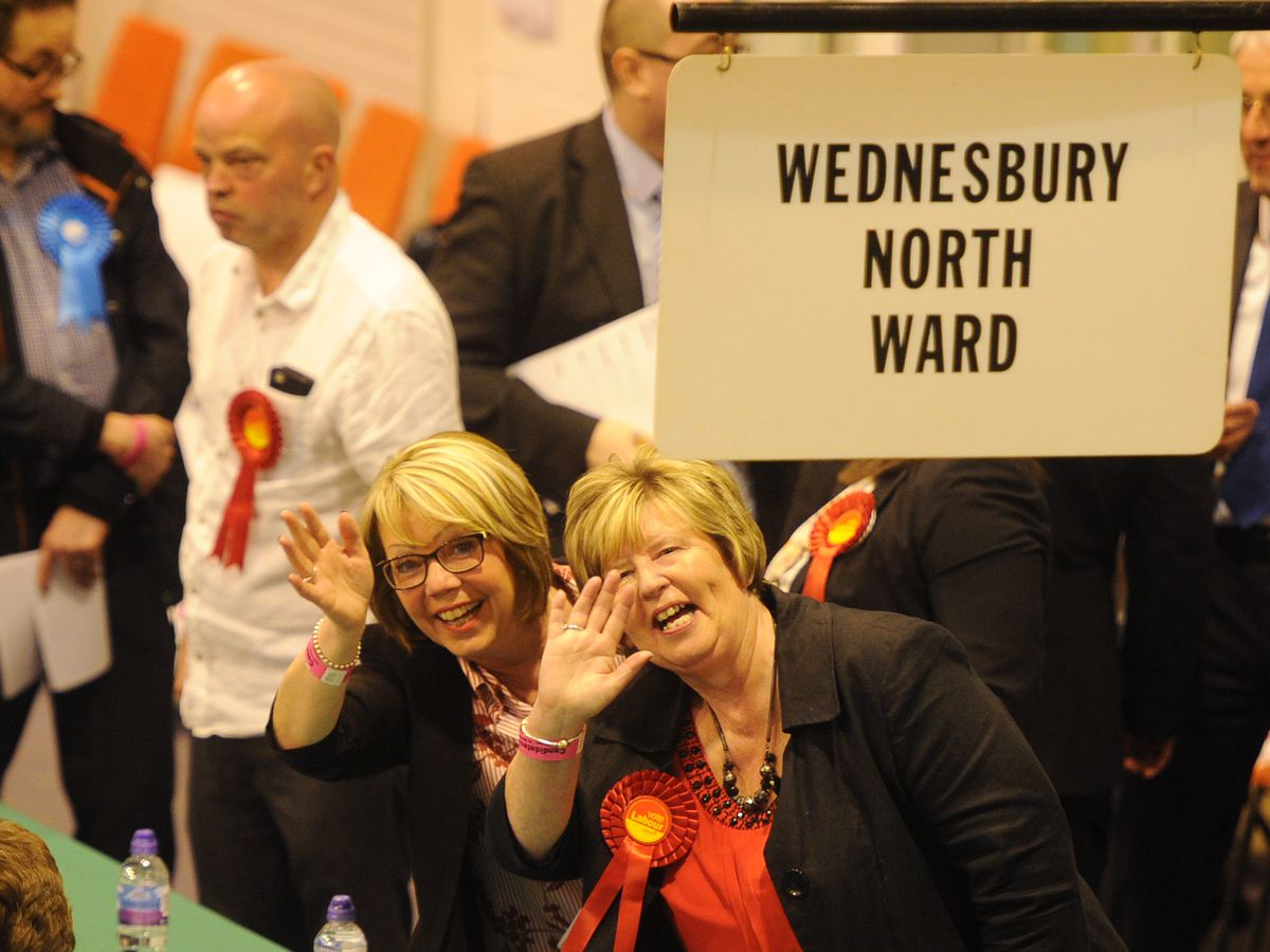 It was all smiles for Labour at the count at Tipton Sports Academy