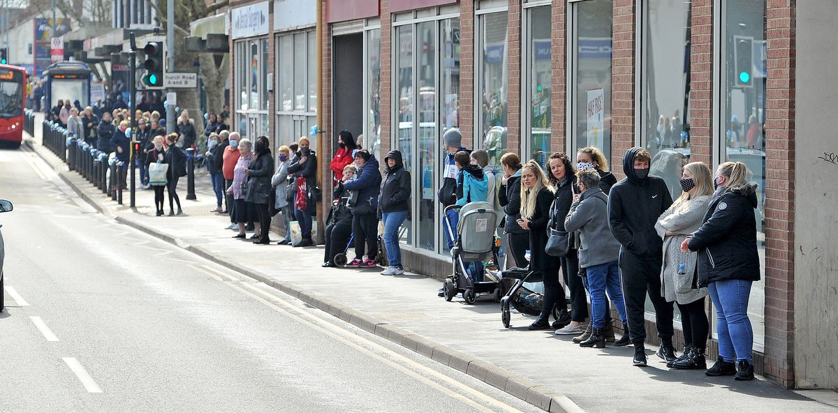 People line Brownhills High Street to pay their respects to baby Ciaran Morris