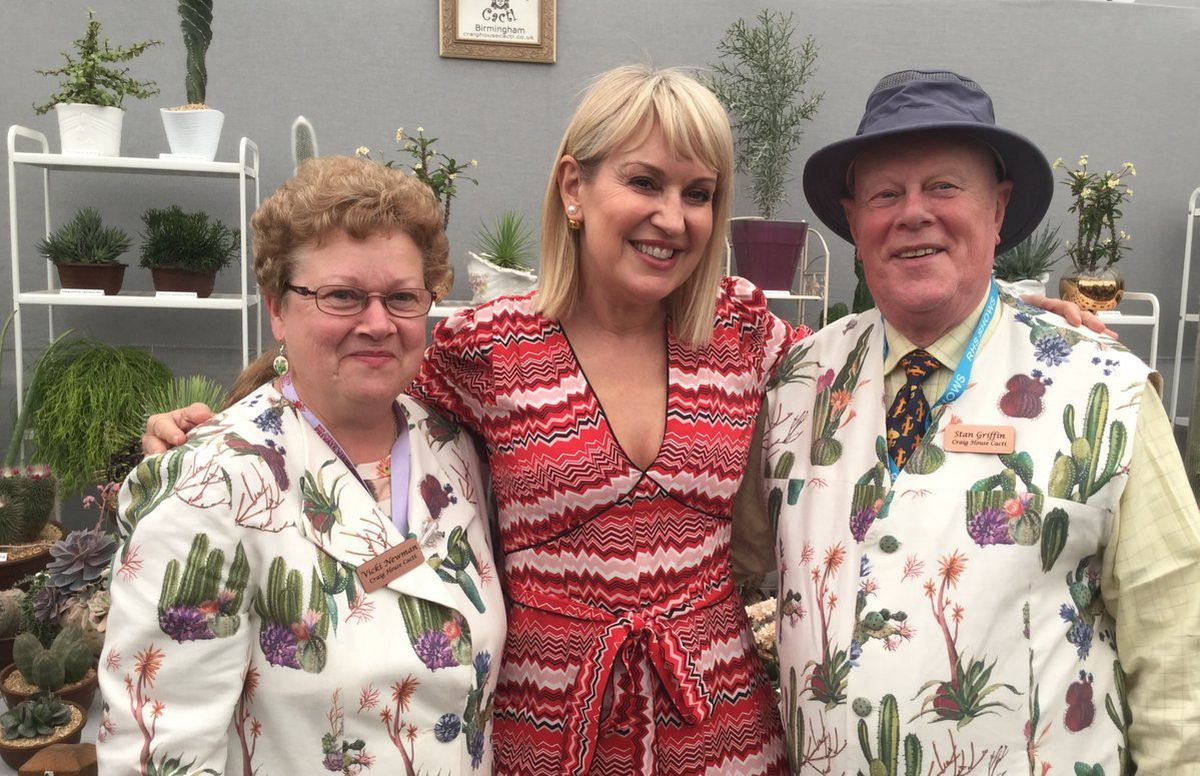 Vicki Newman and Stan Griffin, with Nicki Chapman at the RHS Chelsea Flower Show