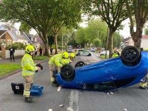 The scene of the crash. Photo:Tettenhall Fire