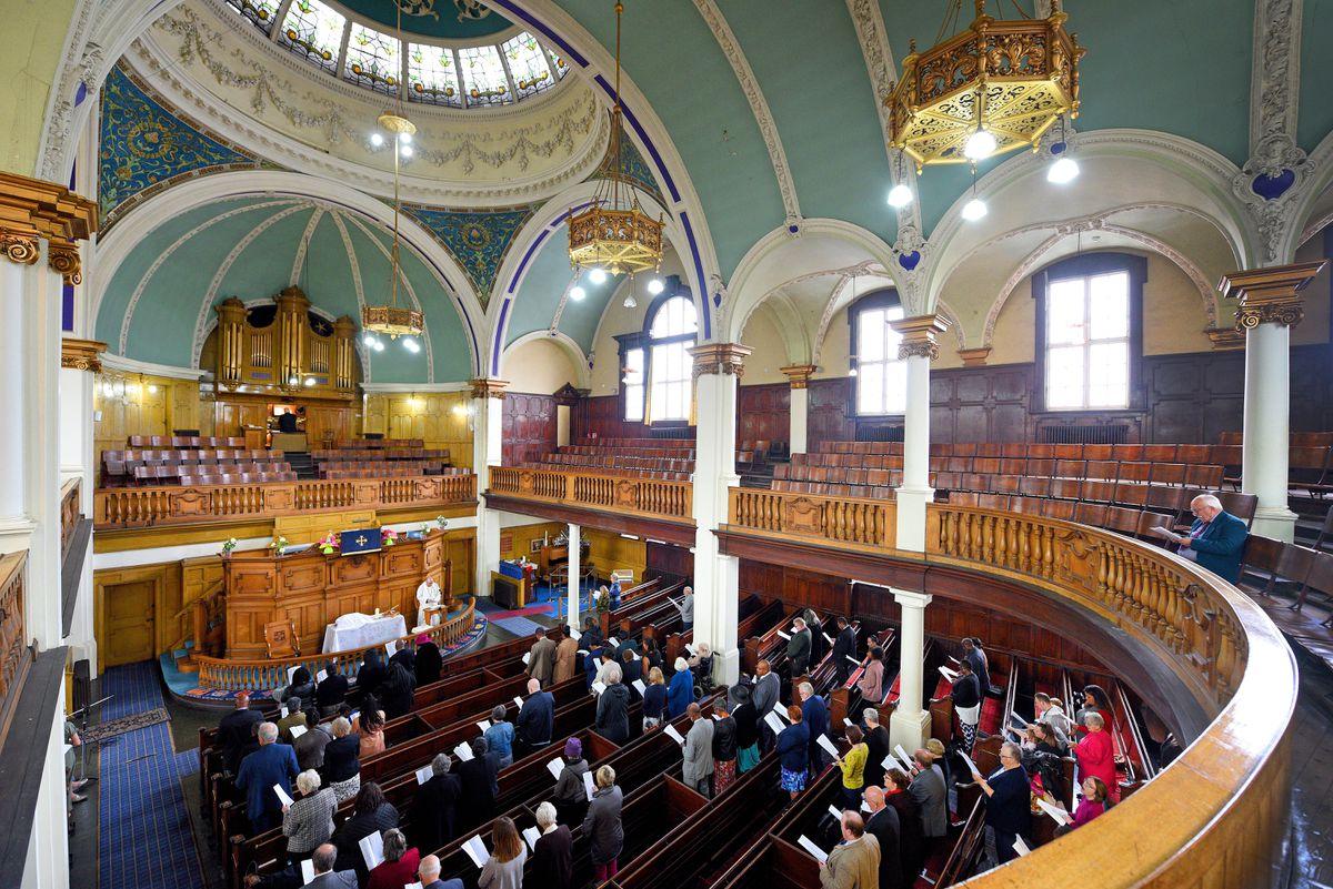The final service at Darlington Street Methodist Church