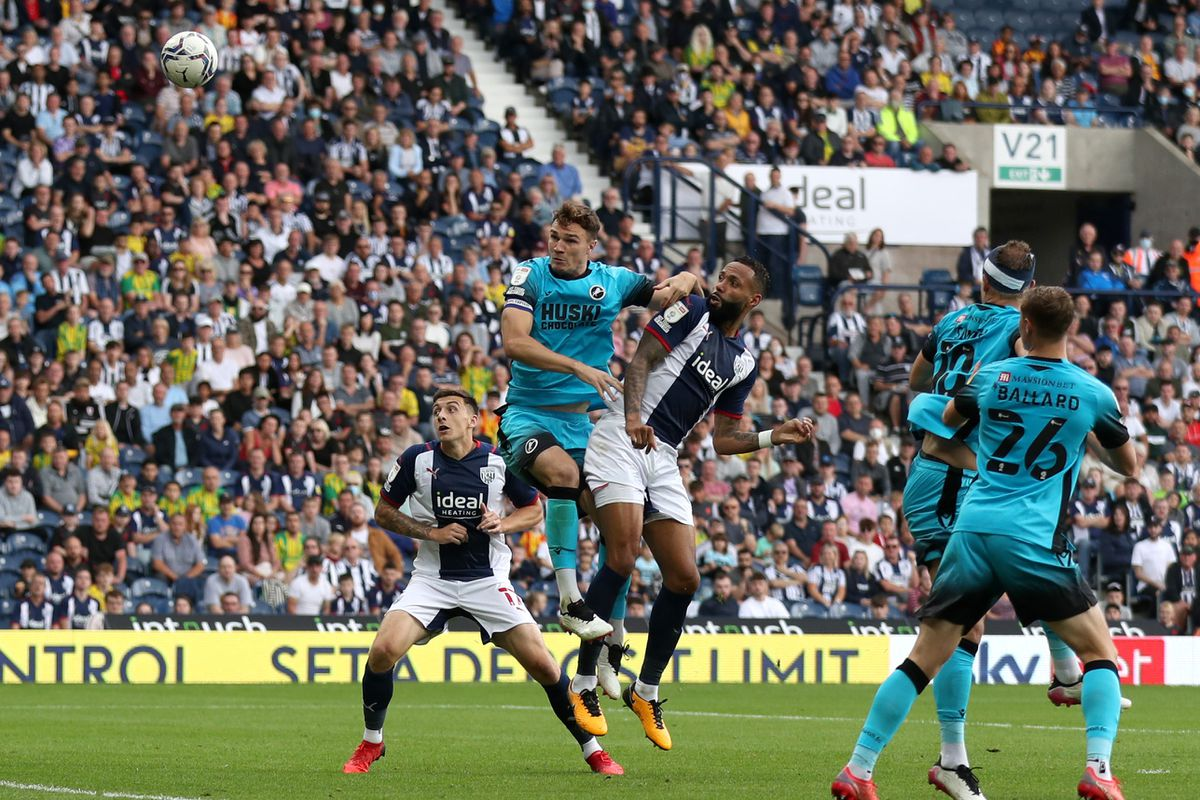 Kyle Bartley of West Bromwich Albion scores a goal to make it 1-0. (Photo: WBA)