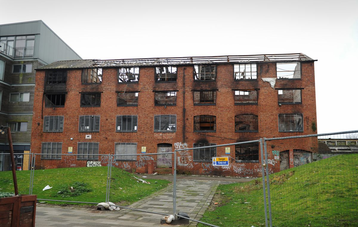 The arson hit derelict building, William House, Walsall