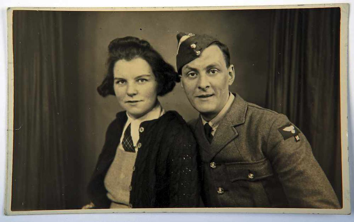 Eric's parents Nora and Earnest Idle pictured in 1942 – Ernest died in 1945