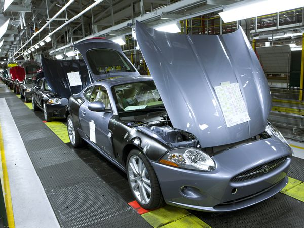Jaguar production at the JLR plant at Castle Bromwich