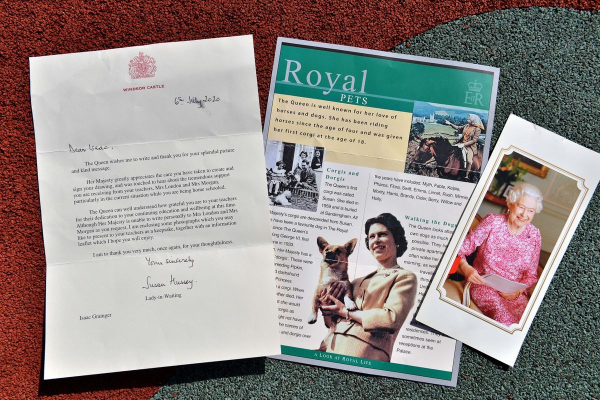 Isaac wrote to the queen about his teachers and the Lady in Waiting replied