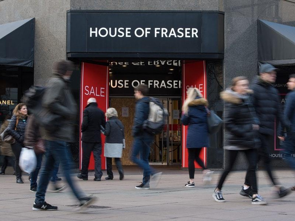 House of fraser reveals christmas sales pain express star for Quality classic house of fraser