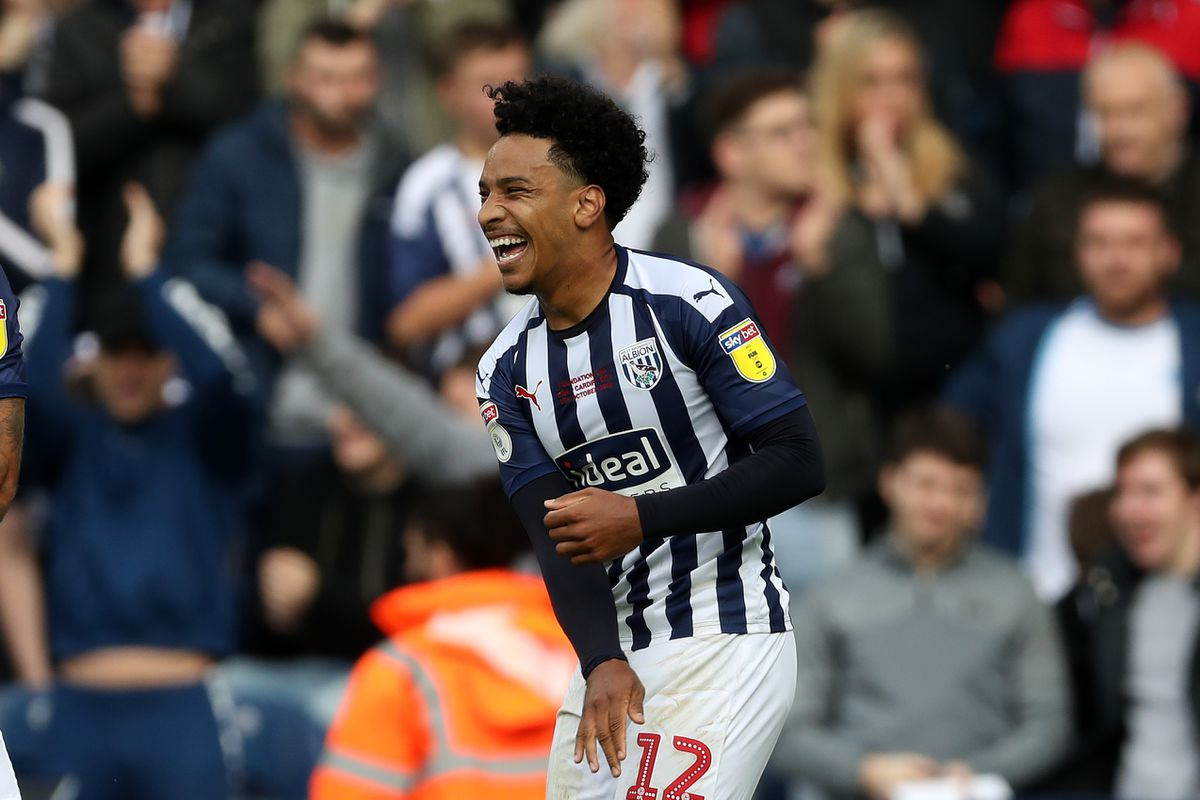 Matheus Pereira of West Bromwich Albion celebrates after scoring a goal to make it 1-0. (AMA)