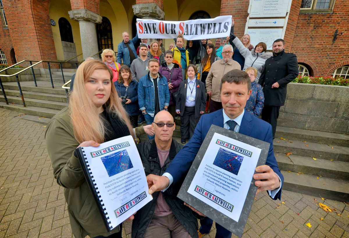 Campaigners handed in a petition to Dudley Council