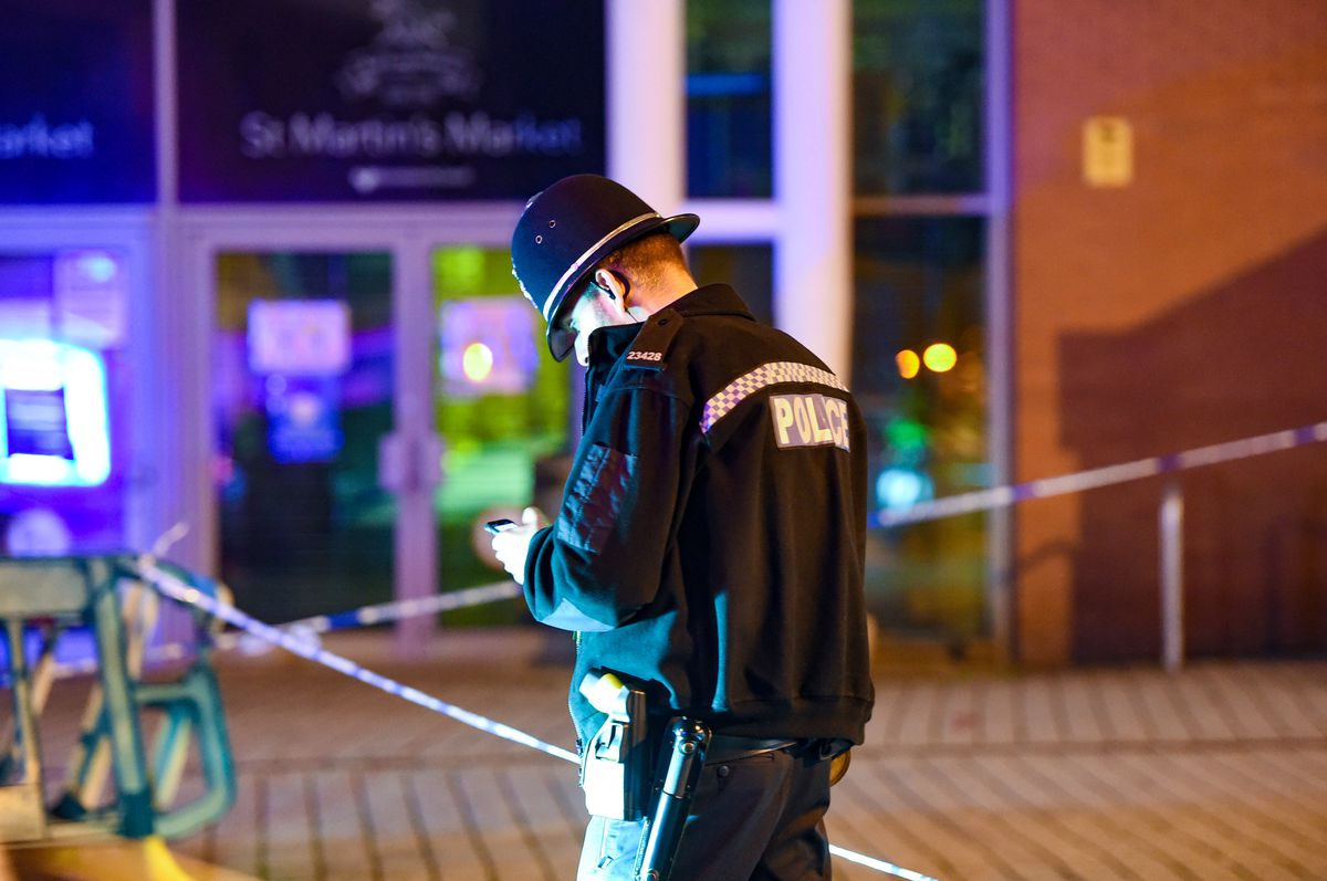 Police at the scene in Upper Dean Street, in Birmingham. Photo: SnapperSK