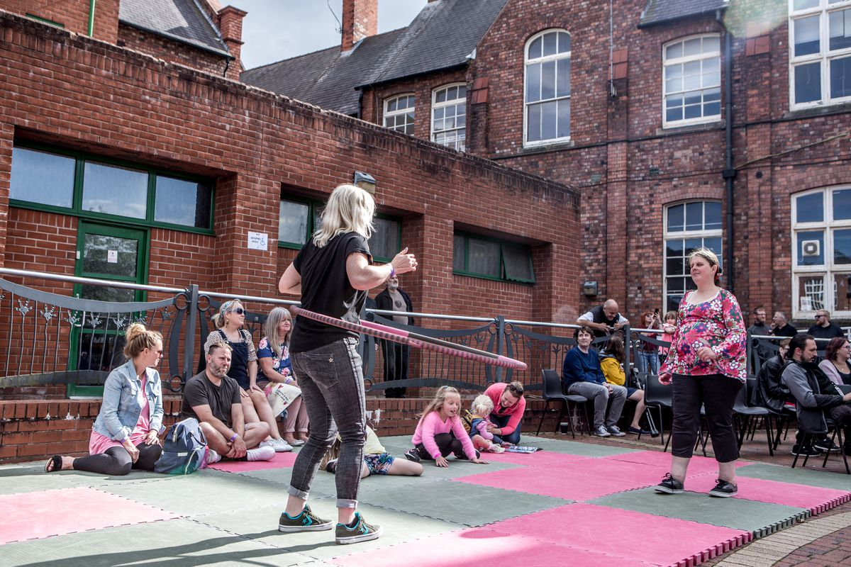 Clare Hannan from Future Bubblers in the centre's courtyard  (Image: Clare Hannan)