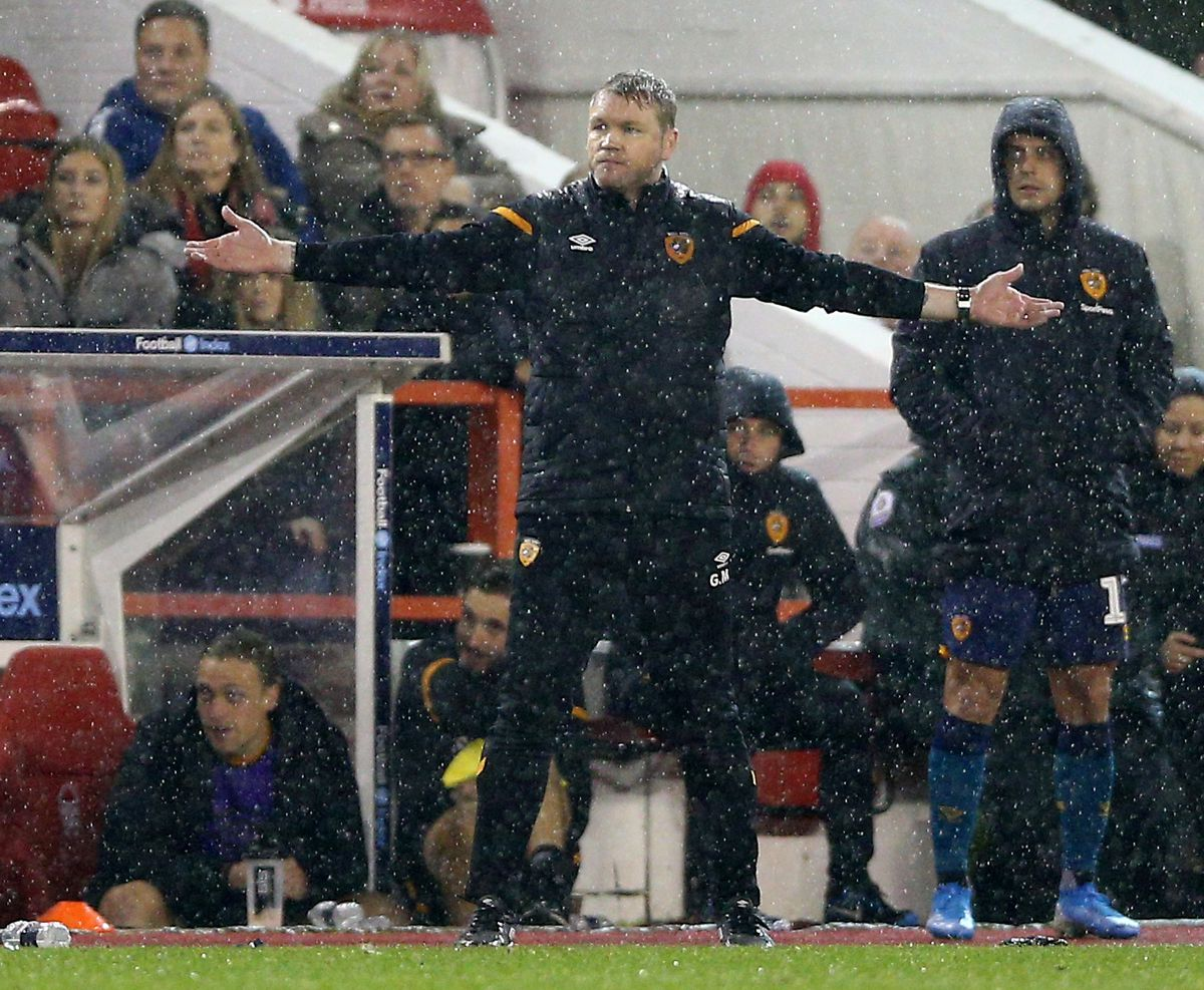 Hull City manager Grant McCann gestures on the touchline