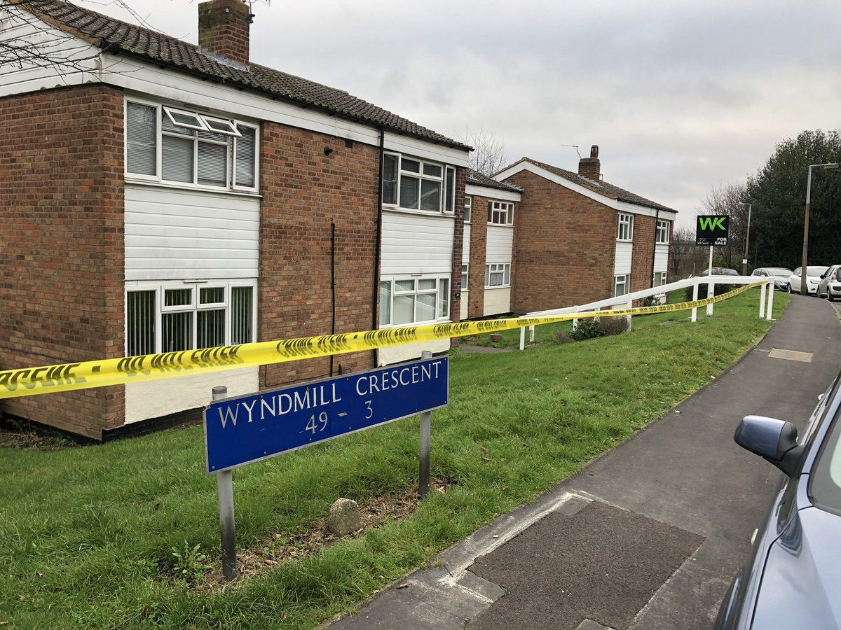 Part of Wyndmill Crescent has been cordoned off since the early hours of New Year's Eve