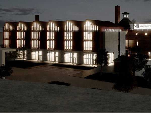 Major construction centre at University of Wolverhampton's Springfield Campus backed