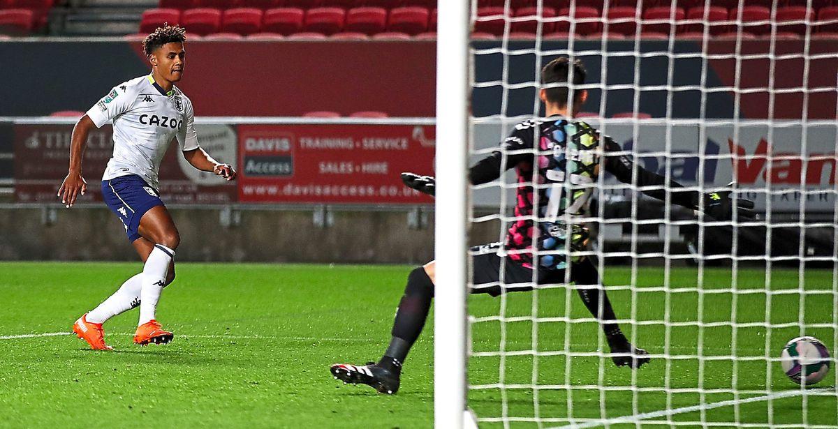Ollie Watkins scored in Villa Carabao Cup third round match against Bristol City