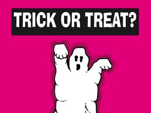 HALLOWEEN POSTER TRICK OR TREAT NO THANKS POSTER FROM  WEST MIDLANDS POLICE