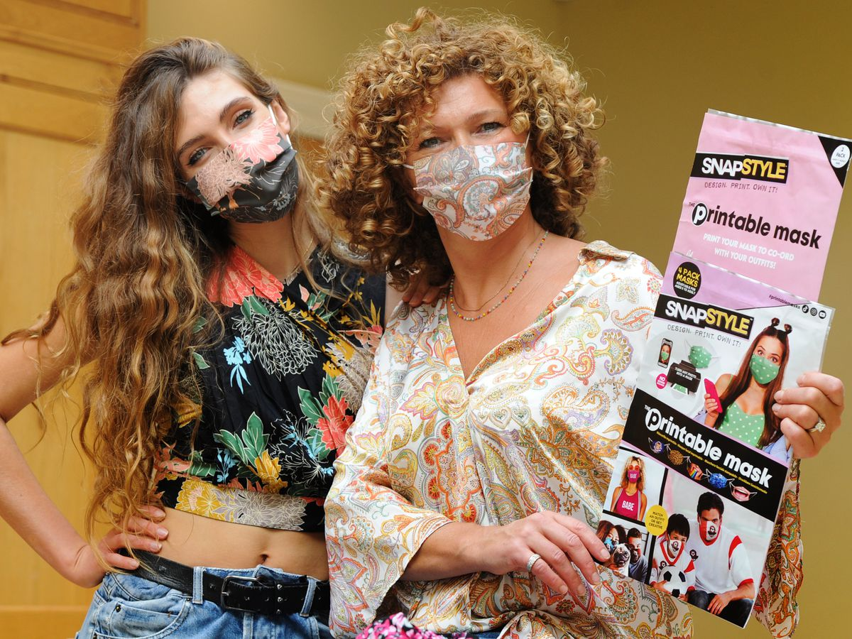 Josie and Karen North with some of the printable masks on