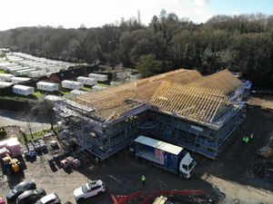 Construction in progress on the new Stourport Medical Centre