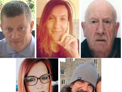 The five people killed in the Westminster attack