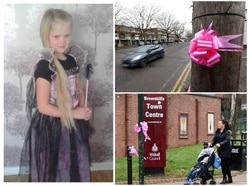 Mylee Billingham: Church support for mourners as pink ribbons appear in sign of unity - PICTURES