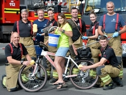 Walsall firefighters clean up with Acorns charity car wash