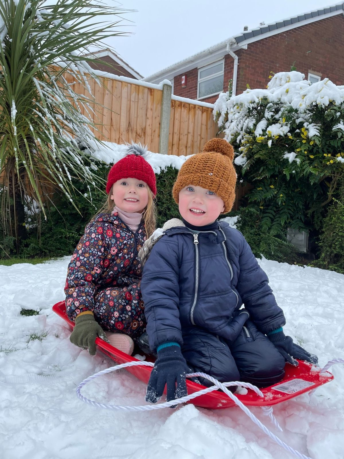 Children across the region continued to enjoy sledding and other activities in the snow