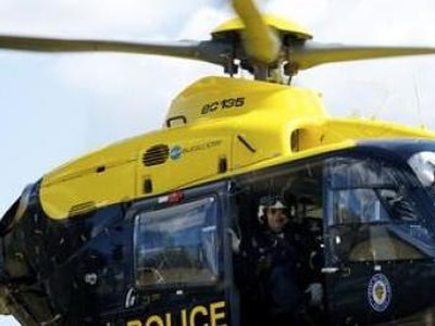 Police helicopter helps make nine arrests