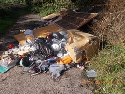 Pair fined after fence panels, cardboard boxes and waste fly-tipped