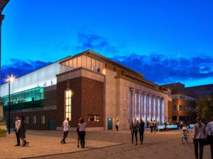 A CGI of how the new Civic halls will look