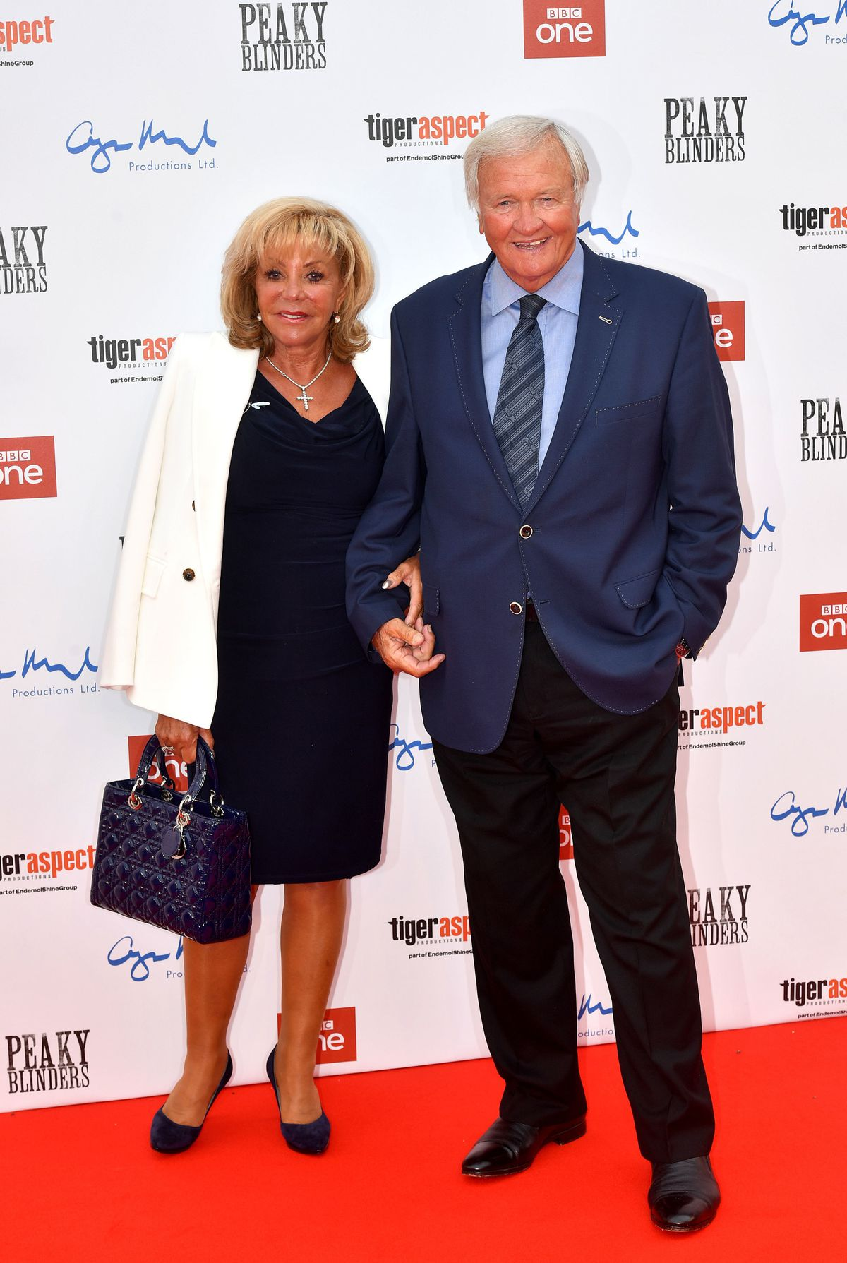 Maggie Atkinson and Ron Atkinson attending the Peaky Blinders Series Five World Premiere held at Birmingham Town Hal