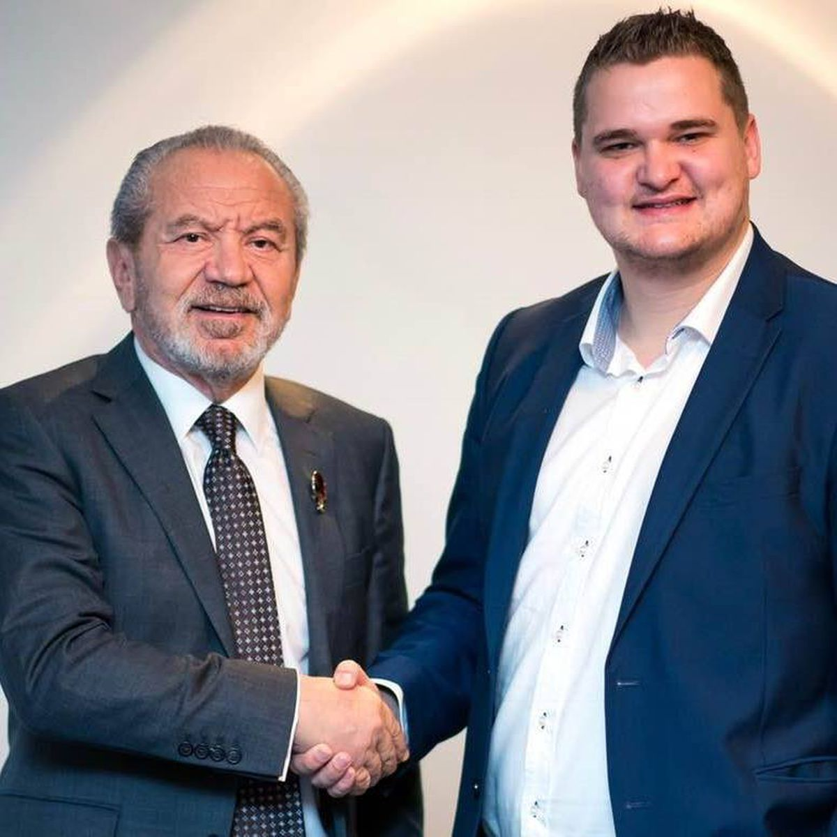 Samuel with Lord Alan Sugar