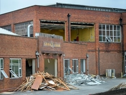 Pictured: Wolverhampton Goodyear factory torn down piece by piece