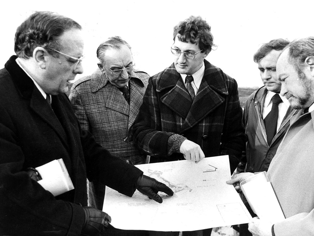West Midlands County Council Officials visiting Oldbury in February 1978