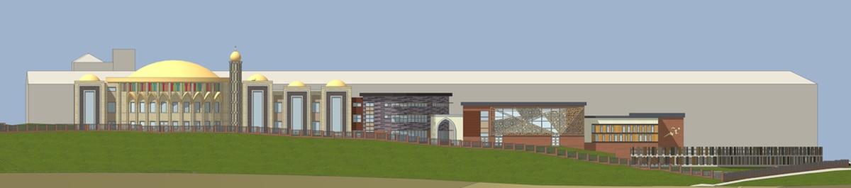 An artist's impression of the proposed mosque in Dudley