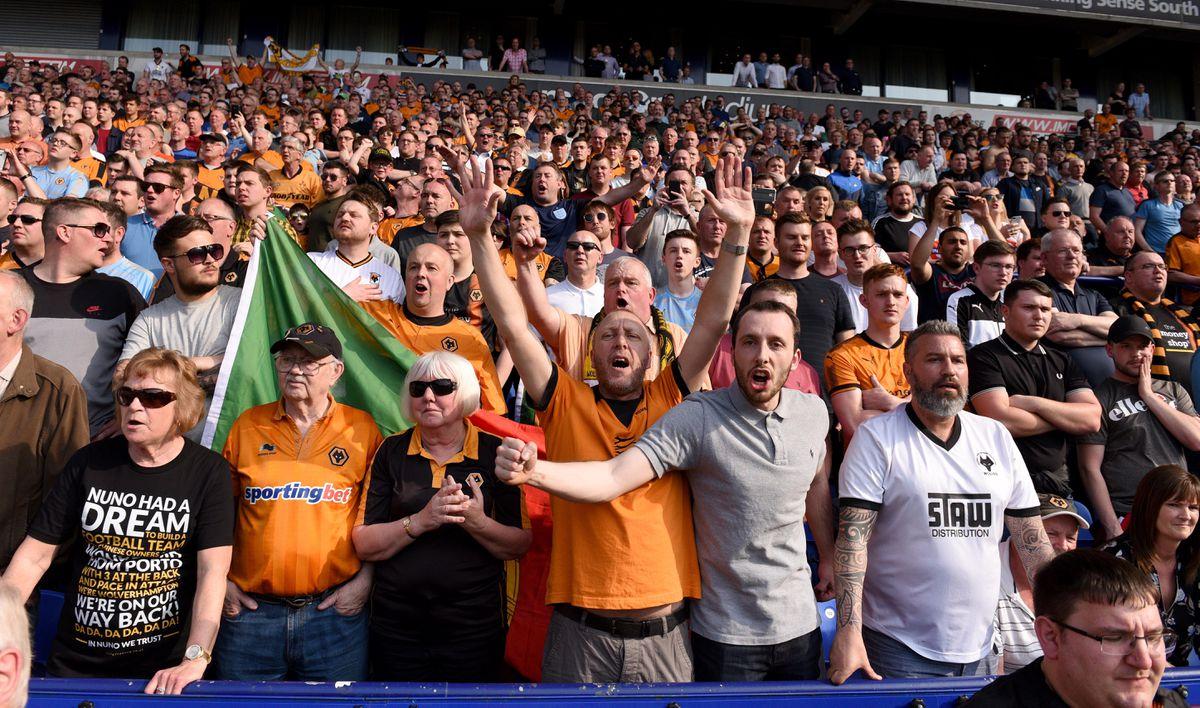 Jubilant Wolves fans