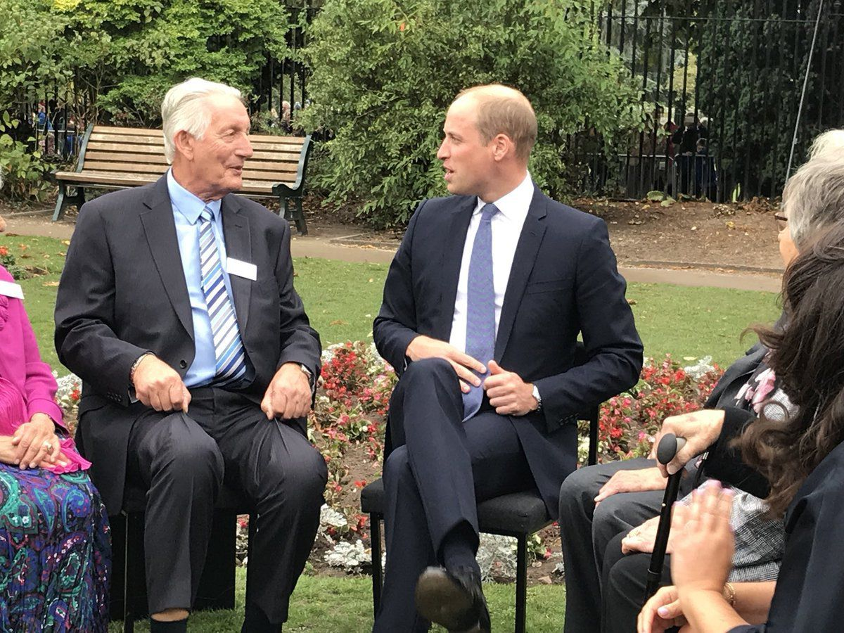 Prince William meets survivors of the Holocaust including those saved by Frank Foley