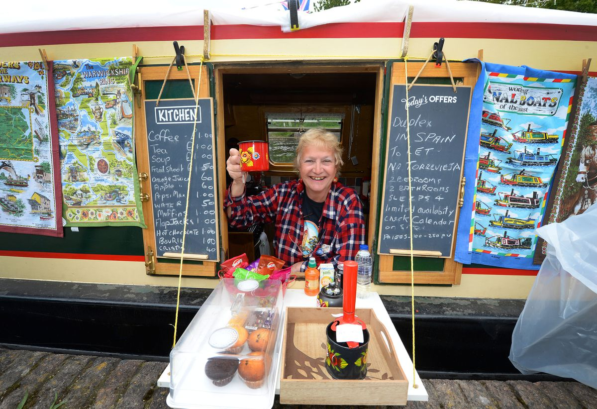 Julie Tonkin was on hand to supply food and drink from her boat.