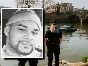 The body of Ashley Atkins, inset, was found in the River Severn after a police chase