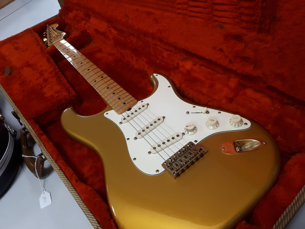 The 1980s Dan Smith era USA Gold on Gold Fender Stratocaster