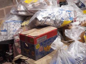 Some of the seized cigarettes and tobacco which have been removed for recycling. Photo: Wolverhampton Council