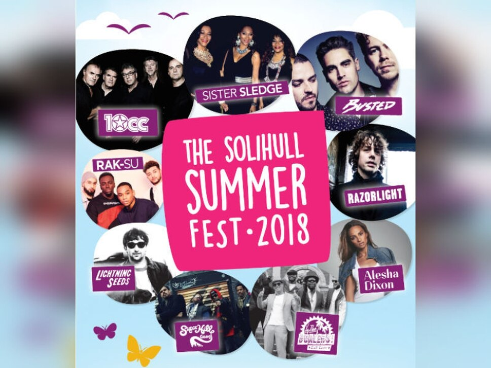 Busted, Sister Sledge and X Factor winners Rak-Su to appear at Solihull Summer Fest