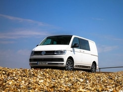 The Volkswagen Transporter Kombi is a hit on the beach