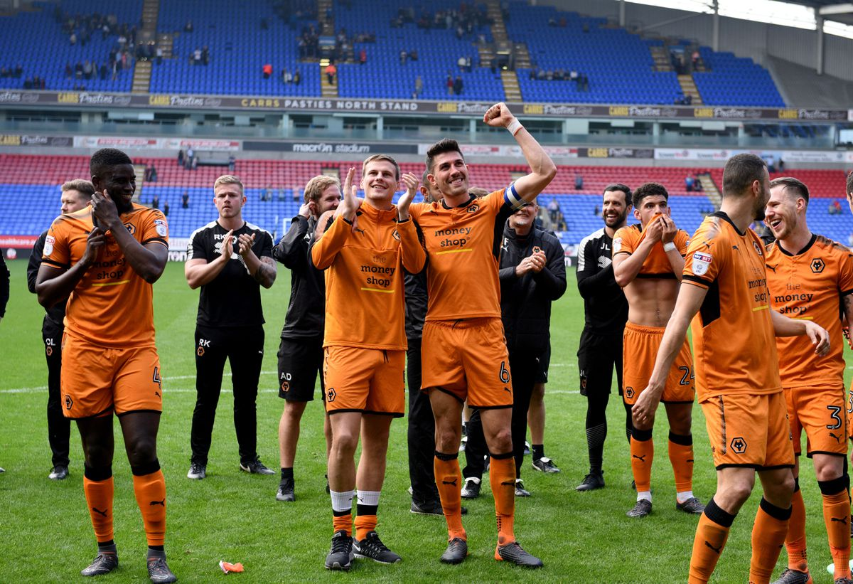 Wolves celebrate winning the league