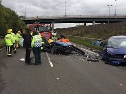 Three taken to hospital after horror smash near Cannock