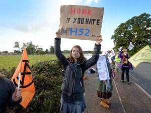 Anti-HS2 protesters near Lichfield