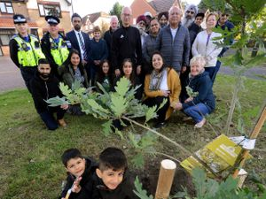 Residents of the Brookshaw Glade Estate in Tipton have planted a tree