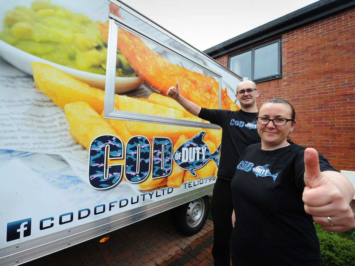 Matthew and Corina Martin have become a hit through their travelling fish and chip van