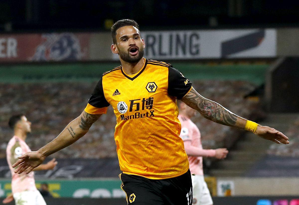 Wolverhampton Wanderers' Willian Jose celebrates (PA)